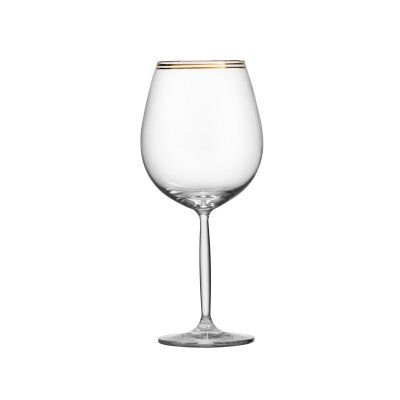 Schott Zwiesel Diva Living Large Wine Glasses - Set of 6 Gold Band - RRPG.GDIVALV.03, Durable