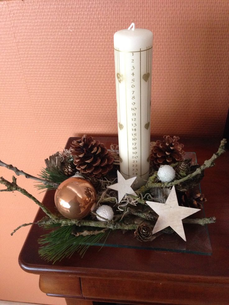 Stars and ornaments make this decoration. Hardly any pine used. Simple and fun.