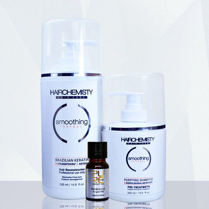 Keratin 500ml 8% formaldehyde straighten hair hair care treatment and 300ml purifying shampoo before keratin hair treatment