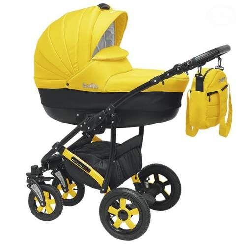 Wózki dziecięce wielofunkcyjne 3w1 czarno żółty dladziecka-net.pl