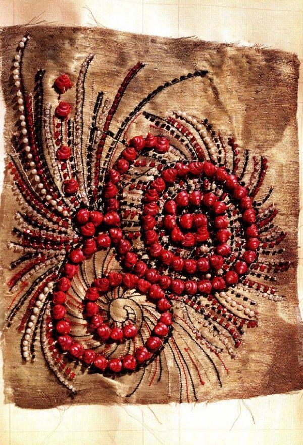 Detail from a Jeanne Lanvin dress, 1920s