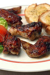 Sticky Chicken Drummies with Garlic Bread - Ina Paarman