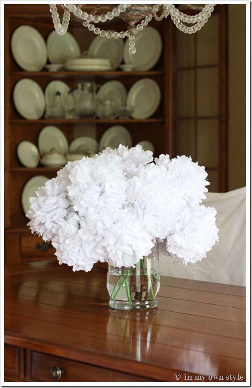 Transform Fake Flowers to Look RealWhite Flower, Dollar Stores, Flower Tutorials, Flower Crafts, Stores Flower, Tissue Paper Flower, Tissue Flower, Fresh Flower, Fake Flower