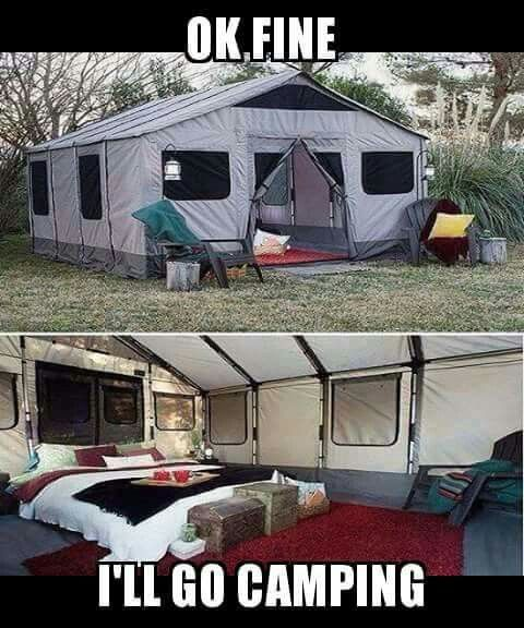 Hell yea!! I would like to surprise my girl with something like this! I think this would change her mind about camping.
