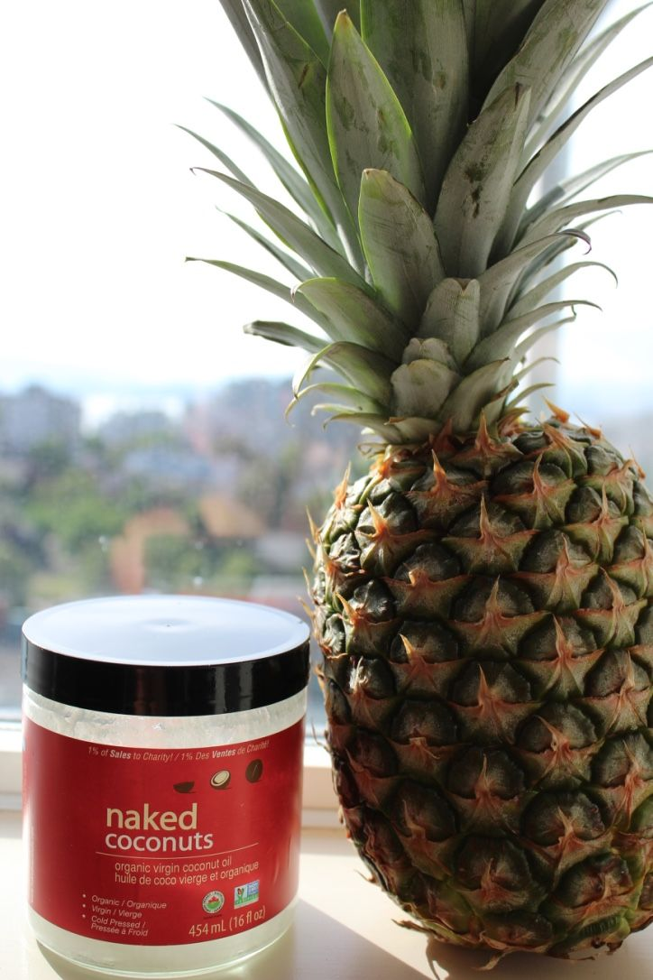 Summer living - what more can we ask for than sunshine, fresh fruit and coconut oil? #Summer #CoconutOil #Pinapple