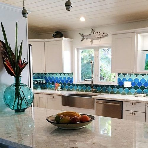 Picture of Creative Fish Scale Backsplash for Your Kitchen