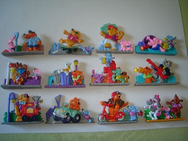 Kinder Surprise Set 3D Puzzle Street Life Cats Dogs Mice 96 Toys Collectibles | eBay
