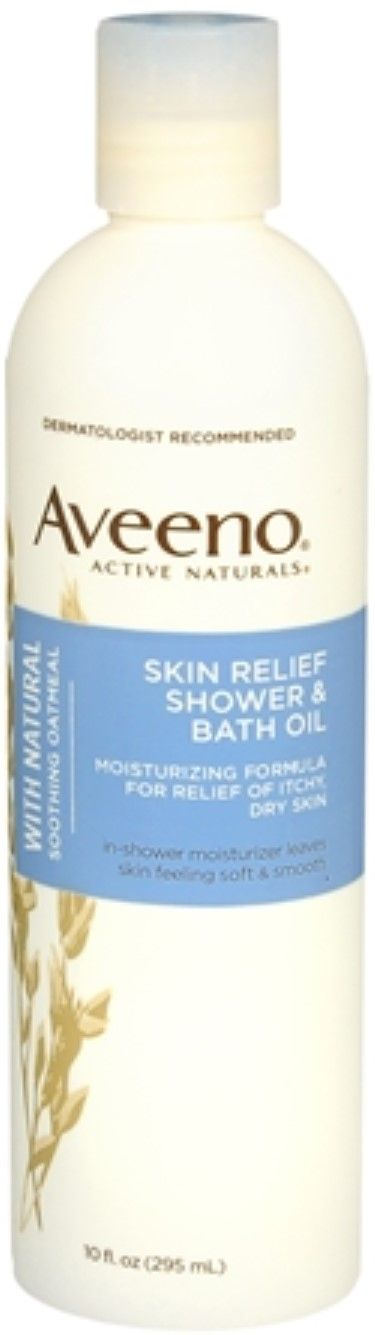 Aveeno Active Naturals Skin Relief Shower And Bath Oil 10 Oz