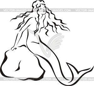 49 Best images about mermaids on Pinterest | Clip art, Stencils ...