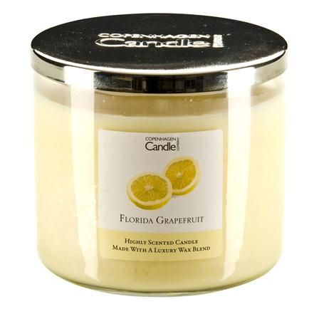 Yellow: The Copenhagen Candle Co. Florida Grapefruit 14oz Filled Glass Candle