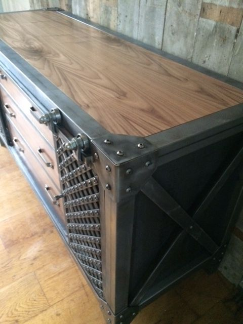A Vintage Industrial Console Handcrafted In Ireland Furniture In