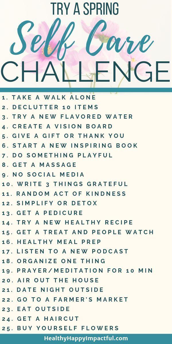 Eine Self-Care-Herausforderung für den Frühling, um das Beste aus dieser strahlenden Jahreszeit herauszuholen! Besser werden …   – Self-care & Self-love