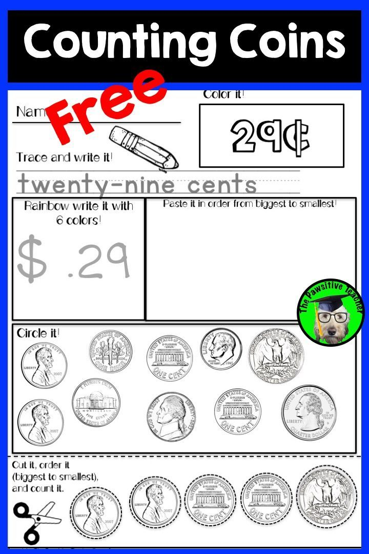Counting Coins FREE!  Working with money and counting coins is a necessary skill for all students to learn!  Give your students some extra practice with this NO-Prep pack!