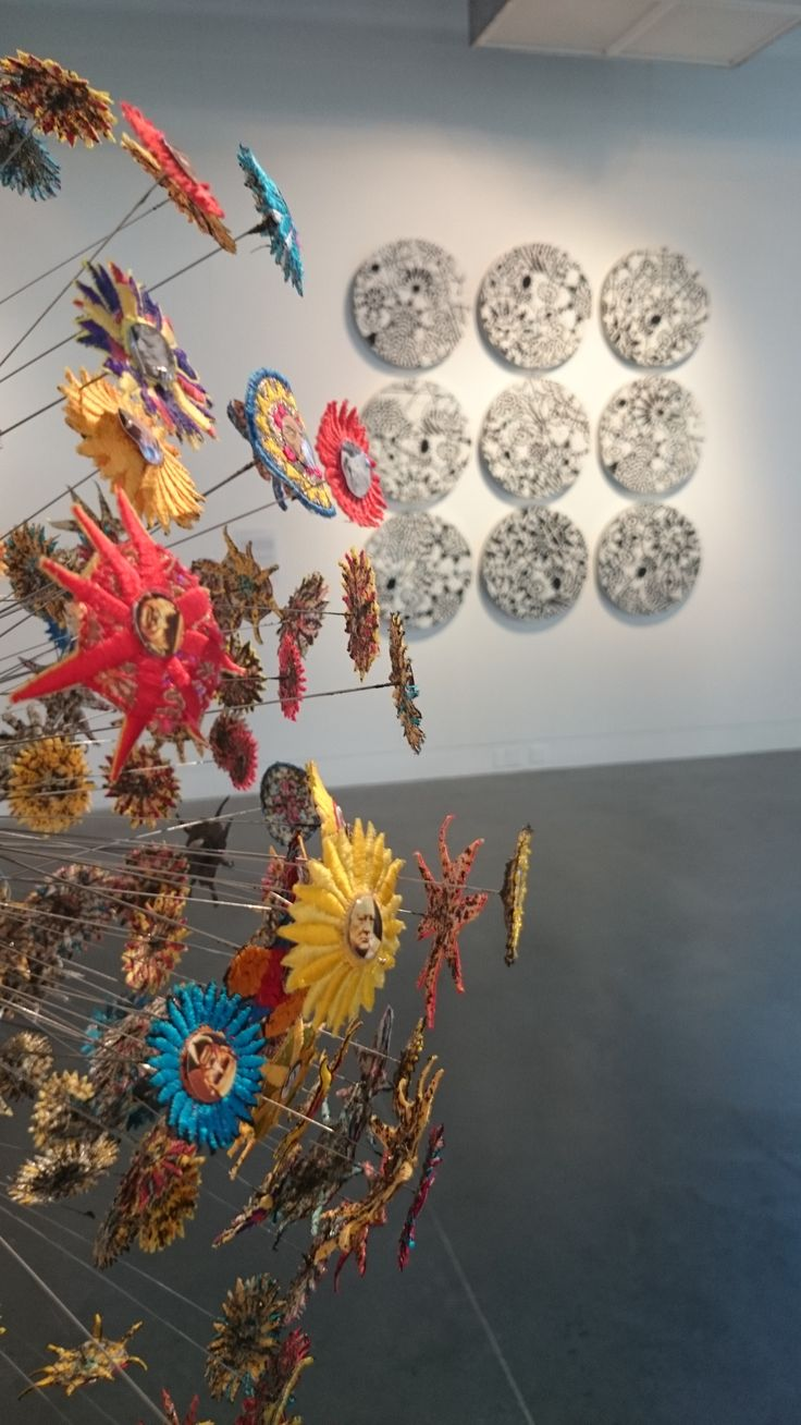 Michael Brennand-Wood: Seeds of Memory Sat 18 Jul - Sun 29 Nov at The National Centre for Craft and Design. Work seen in shot - (foreground) Flower Head - Narcissistic Butterfly , 2005 (background) 9 Dreams Within The Here and Now , 1998 - 99. #nccd