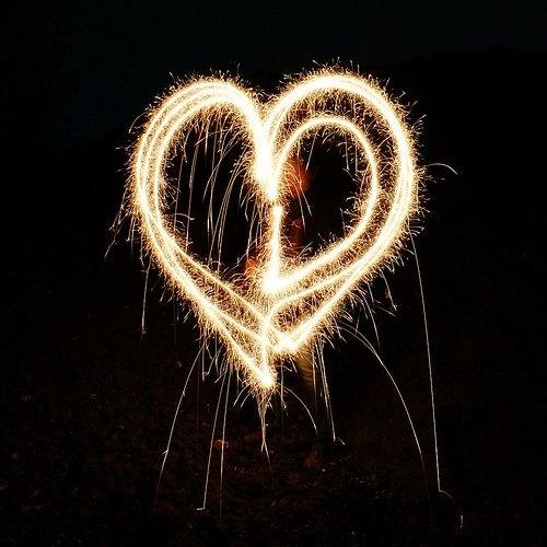 #cuore #fuochi d'artificio