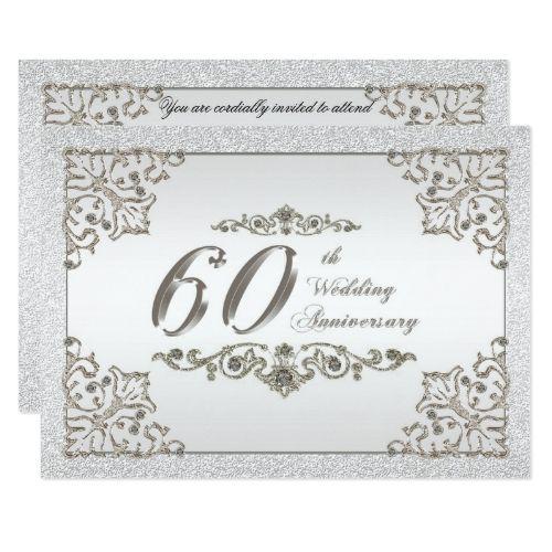 16 Best 60th Wedding Anniversary Invitations Images On Pinterest