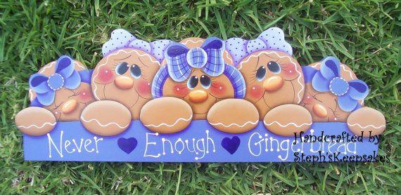 Handpainted Gingerbread Door Crown by stephskeepsakes on Etsy