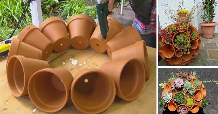 Ak si chcete záhradu alebo terasu ozdobiť niečím skutočne originálnym, ste na správnom mieste! Kreatívny DIY nápad s návodom na kvetináč v tvare gule