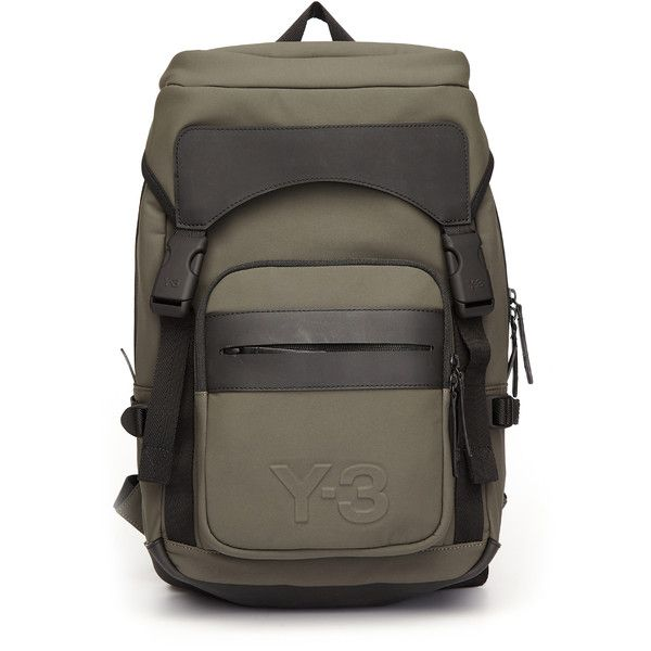 Y-3 Ultrat Textile Backpack (€290) ❤ liked on Polyvore featuring bags, backpacks, daypack bag, y3 bag, day pack rucksack, knapsack bag and backpack bags