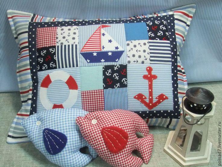 Купить Наволочки морские - разноцветный, морская тема, морской стиль, морская тематика, наволочки на подушки