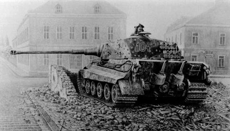 Tank Panzer VI Ausf. B Tiger II or Königstiger was the last German tank produced in series of World War II. The tank also was the hardest (via 69 tons) and the strongest. He was armed with a powerful Cannon KwK 43 L71 88 mm. use of caliber for a total of four types of ammunition.