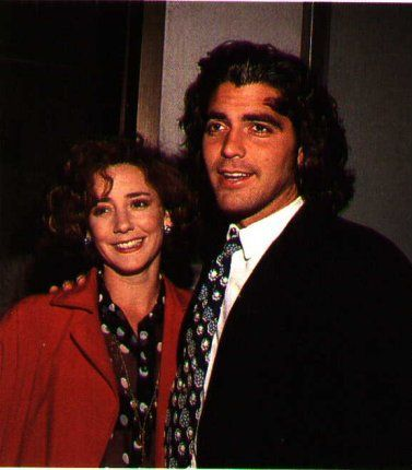 George Clooney with his 1st wife Talia Balsam daughter of actors Martin Balsam and Joyce Van Patten. They were married from 1989 until 1993. 20 years later he has kept his vow to never marry again.