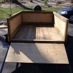 Putting wooden sides on a utility trailer