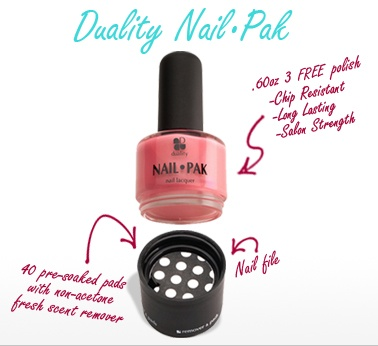 Duality Nail Pak - 3-in-1 Nail Polish product seen recently on Shark Tank.  SUPER IDEA!   ** I also LIKE > Interchangeable Shoes WE SHIP INTERNATIONALLY WORLDWIDE! ORDER TODAY ONLINE OR CALL 561-845-6361 FOR SPECIALS 'seen on shark tank'