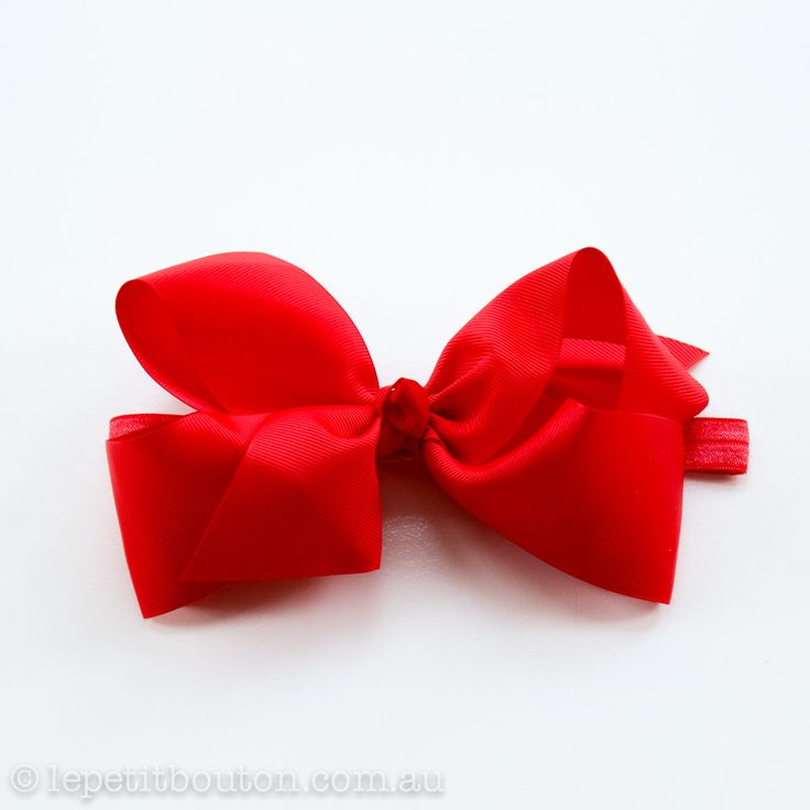 "Large Bow ""Sandy"" Red – Le Petit Bouton"