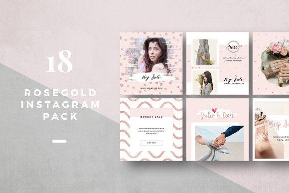 50% OFF Rosegold Instagram Pack by Trendest Studio on @creativemarket
