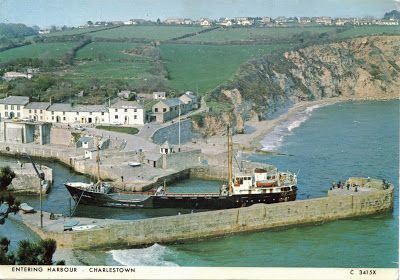 Entrance to Charlestown Harbour, Cornwall, England.