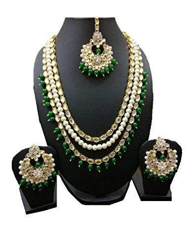 VVS Jewellers Exclusive Indian Bollywood Style Green Pear... https://www.amazon.com/dp/B073RGCKF4/ref=cm_sw_r_pi_dp_x_.pUCzbA8W9NEF