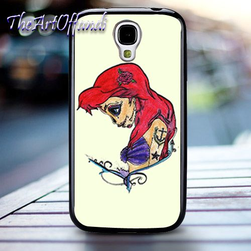 Disney Princess Ariel Punk For Samsung Galaxy S4 Black Rubber Case