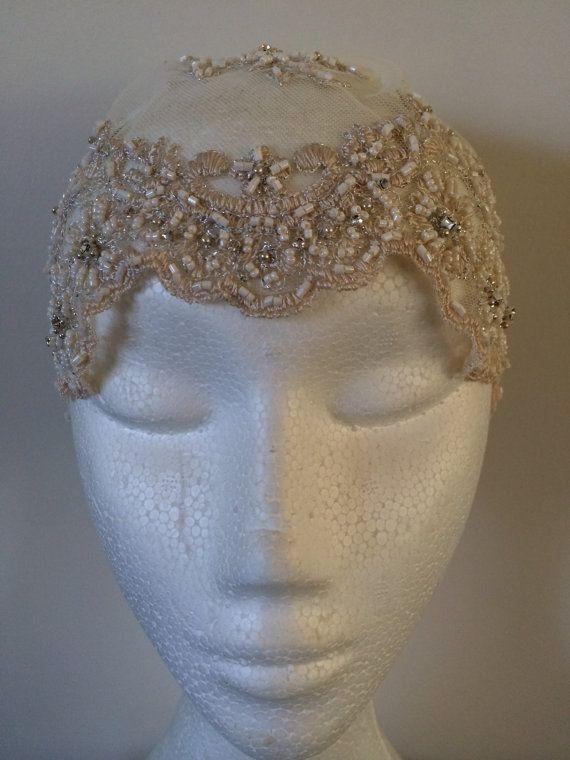 Lace Bridal Cap Fascinator Headpiece by Rodamece on Etsy, $190.00