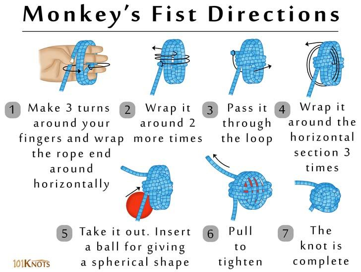 Making A Monkey S Fist 101 Knots Monkey Fist Knot Monkey Fist Monkey Knot
