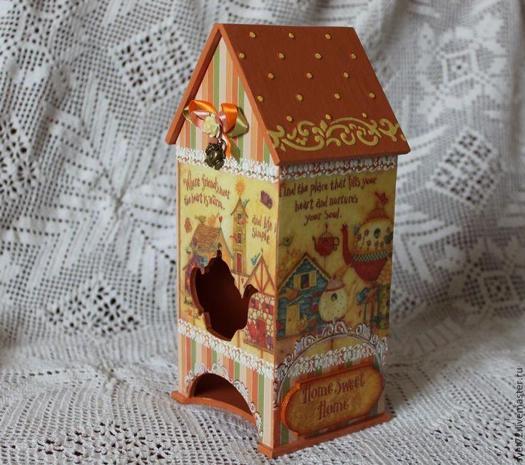 """Купить Чайный домик """" Оранжевое чудо"""" - рыжий, чайный домик, чайная коробка"""