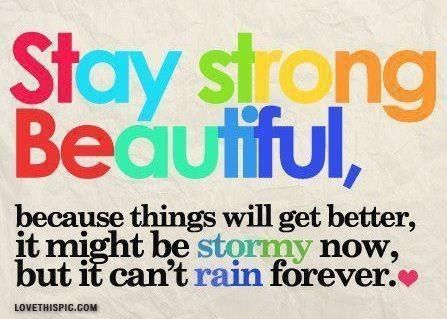 Stay strong quotes quote colorful inspirational strong