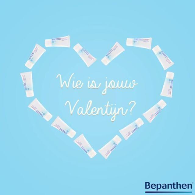 Wie is jouw Valentijn? | Bepanthol is een reeks van zalven die droge en voor irritatie gevoelige huid beschermen tegen kou, droogte en irritatie, die de rode billetjes van je baby verzorgen, je lippen beschermen tegen koude, droogte en kloven en die zwangerschapsstriemen helpen voorkomen. | http://www.pharmamarket.be/be_nl/merken/bepanthol.html