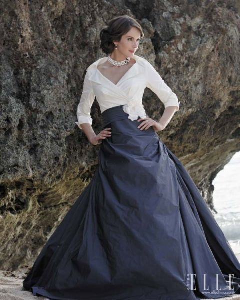Nontraditional but beautiful wedding gown