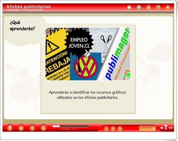 """""""Afiches publicitarios"""" (Actividad interactiva de Lengua Española de Primaria)"""