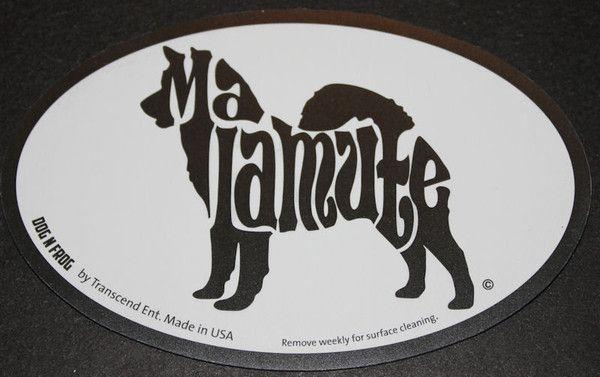 Alaskan Malamute Euro Dog Breed Car Sticker Decal