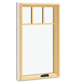 Integrity from Marvin Wood-Ultrex series fiberglass casement window.  Available with Simulated Divided Lites (SDL) with or without spacer bar.  Cottage lite cut shown here.