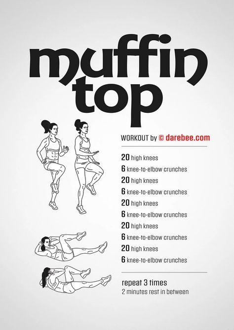 Muffin Top Workout #fitness #highknee #crunch