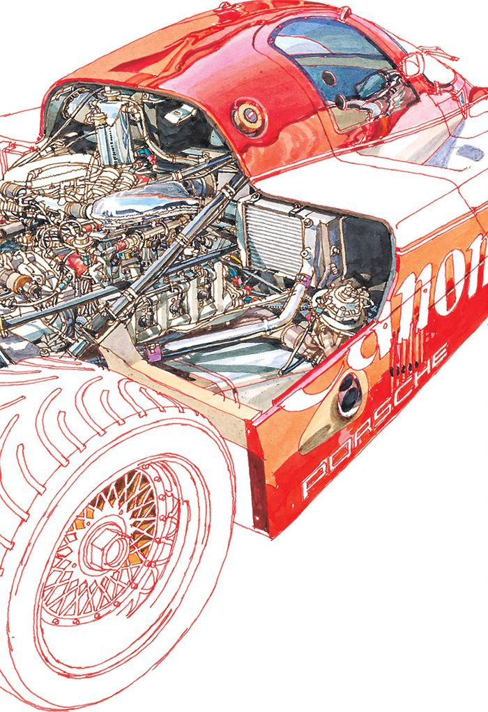 Technical drawings by Peter Hutton