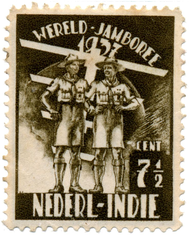 5th World Scout Jamboree Netherlands East Indies stamp 1937