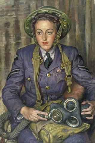 Corporal JM Robins, Women's Auxiliary Air Force, by Laura Knight, 1941 Imperial War Museum