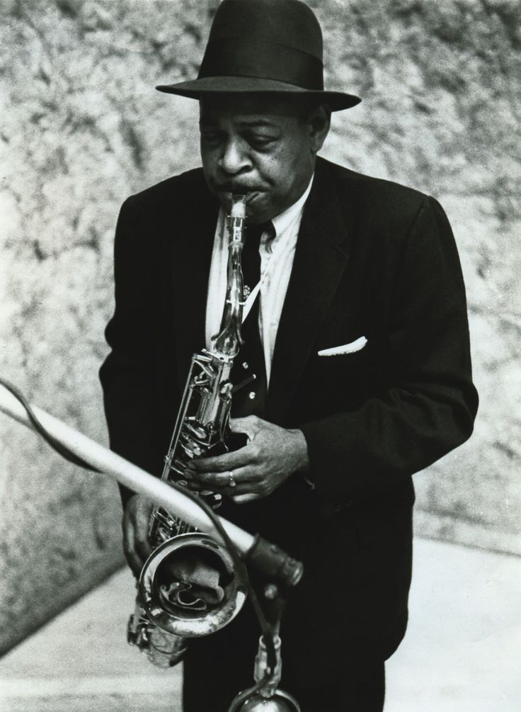 Coleman Hawkins [1904, Saint Joseph, MO - 1969, New York City, NY] was a jazz tenor saxophonist and one of the first prominent jazz musicians on his instrument. While Hawkins is strongly associated with the swing music and big band era, he had a role in the development of bebop in the 1940s.