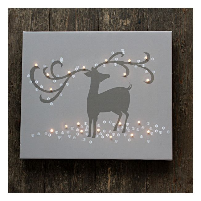 Christmas Is Getting Close! 'Reindeer Light Up Canvas £44.95'