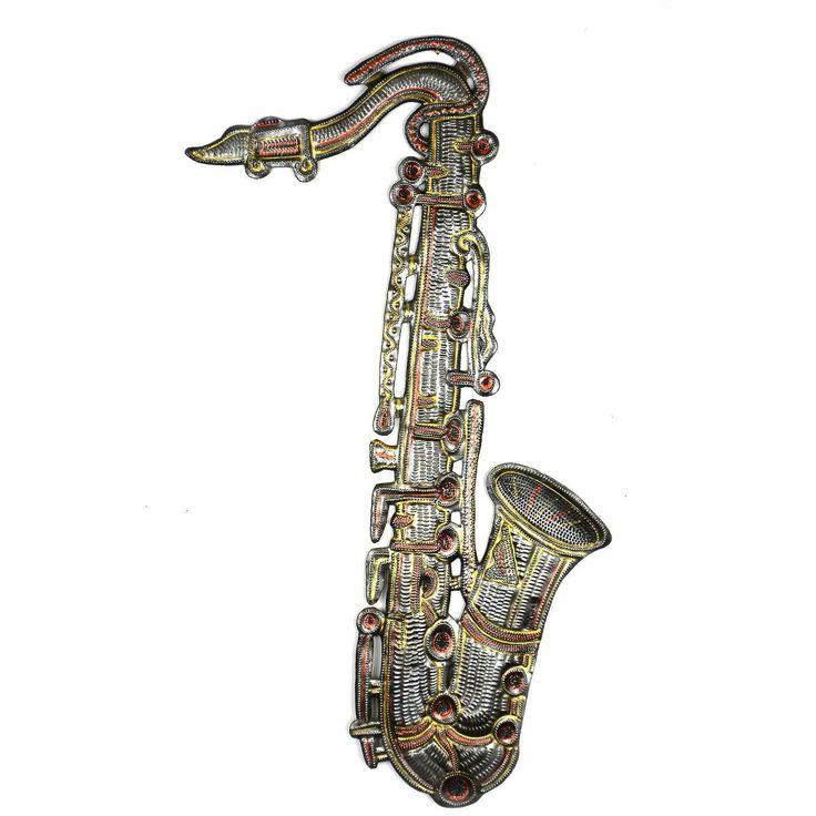 Painted Metal Horn 22 inch - Croix des Bouquets