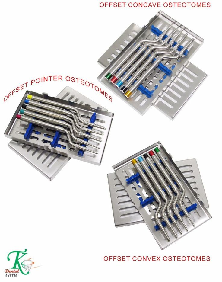 Set of 3 Sinus Osteotomes Concave+Convex & Pinter Tips Dental Surgery Tools Kit #tkplus